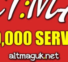 Alt:Mag Promo - 100,000 Served! Sticker