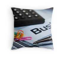 Business Accessories Throw Pillow
