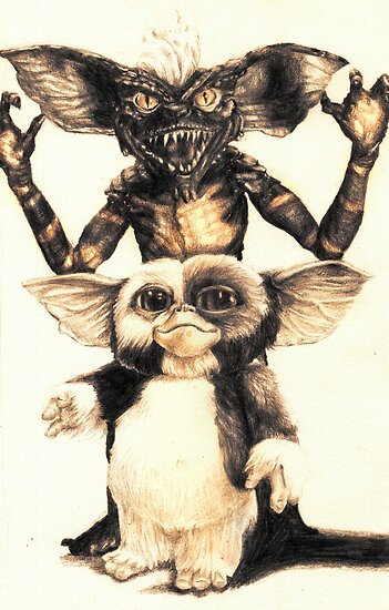 Gizmo and Spike from Gremlins by AaronBir