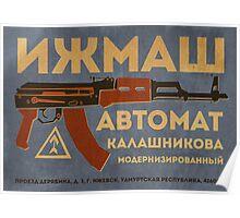 AK-47 (Blue) Poster