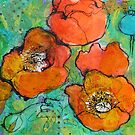 Tangerine Poppies by Maria Pace-Wynters