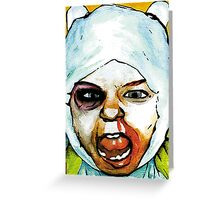 Realistic Finn from Adventure Time Greeting Card