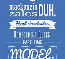 She's Mackenzie Zales by Cheatahgirl54