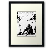 Oscar of Astora Framed Print