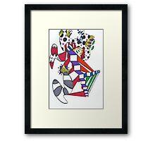 Drunken Clown Dreams Framed Print