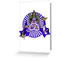 Conjuring Blue & Grey Greeting Card