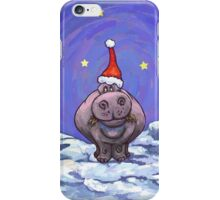 Hippopotamus Christmas iPhone Case/Skin