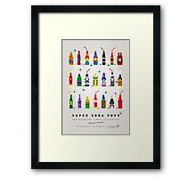 My SUPER SODA POPS No-00 Framed Print