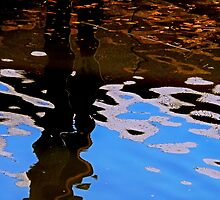 Reflecting on Dock and Sky by JamesAiken