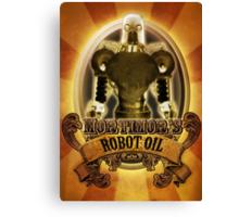 Mortimors Robot Oil. Canvas Print