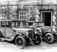 Austin Six and Invicta Cars - black and white by © Steve H Clark