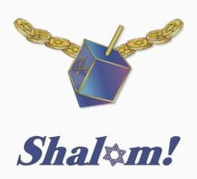 Shalom Gold Coins Hanukkah by SpiceTree