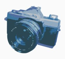 Blue 35mm SLR Film Camera Design by strayfoto