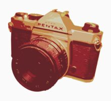 Red 35mm SLR Film Pentax Design by strayfoto