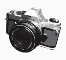35mm Black and White SLR Design by strayfoto