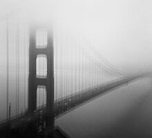 Golden Gate Bridge Black and White Tri-X and Holga by strayfoto