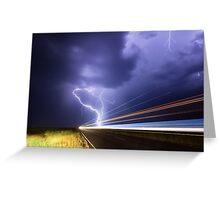 Midsummer lightning near Ruthven, NSW Greeting Card