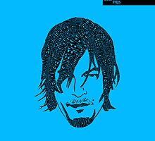 Daryl Dixon from Walking Dead (Blue) by seanings