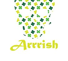 Arrish Irish Pirate Shamrock Skull by kwg2200