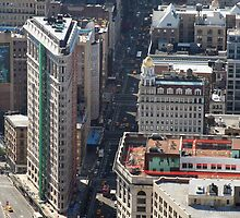 New York - Flat Iron building from the Empire State Building by Maureen Keogh