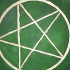 Pentacle - Green Magic by Joanne Thomas