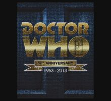 Doctor Who Logo - 50th Anniversary Celebration by Marjuned
