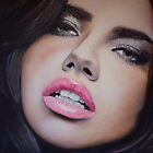 Adriana Lima Portrait Oil Painting by daverives