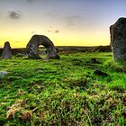 DUSK FALLS OVER MÊN-AN-TOL by PlanetPenwith
