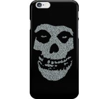 Misfits logo Skull Lyrics iPhone Case/Skin