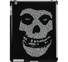 Misfits logo Skull Lyrics iPad Case/Skin