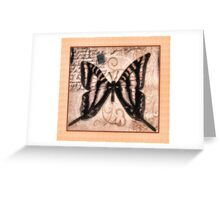 Vintage Butterfly Title Greeting Card