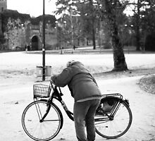 Elder and her bike by TomJerry