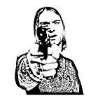 Kurt Cobain - Don't have a gun - Black and White by rikovski