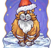 Ginger Cat Christmas Card by Traci VanWagoner