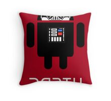 Darth Android Throw Pillow