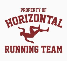 Property Of Horizontal Running Team by BrightDesign