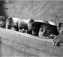 curious children by Fidisoa Rasambainarivo