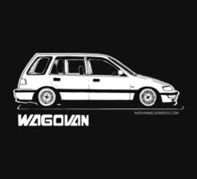 Honda Civic Wagovan Shirt by NateRossArt