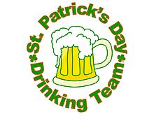 St. Patrick's Day Drinking Team Photographic Print