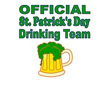 Official St. Patrick's Day Drinking Team Photographic Print