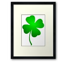 Green Clover Framed Print
