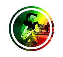 Minecraft Steve Guitarist Target by Audio Gravy