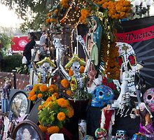 Altar Detail Day of the Dead Los Angeles by effie2