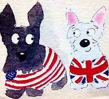 Scottie & Westie Dogs by archyscottie