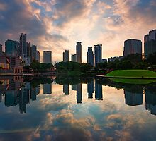 Blissful Sunrise at KLCC Park by Nur Ismail Mohammed