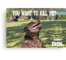 Stop BSL Canvas Print