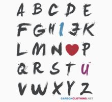 Alphabet Love  by CarbonClothing