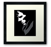 Mysterious with Cheekbones Framed Print