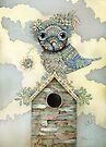 Blue Owl Birdhouse II by © Karin  Taylor