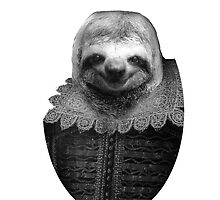 Shakespeare Sloth by matpalmer